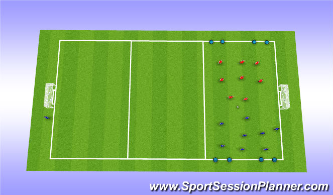 Football/Soccer Session Plan Drill (Colour): Game Phase (20 Minutes)
