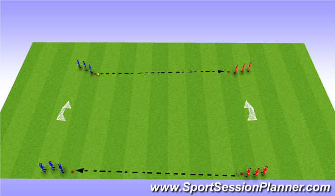Football/Soccer Session Plan Drill (Colour): 1v1 Trans