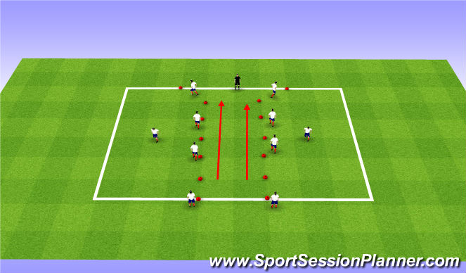 Football/Soccer Session Plan Drill (Colour): Summer ODP Week 12 3rd Session
