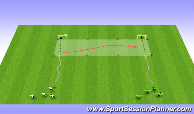 Football/Soccer Session Plan Drill (Colour): RWB