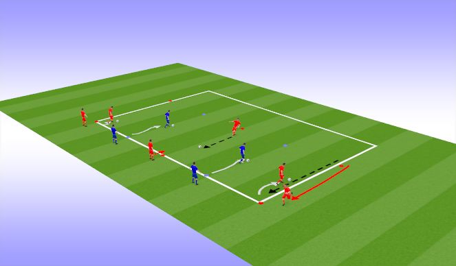 Football/Soccer Session Plan Drill (Colour): Dribble/Turn/Pass