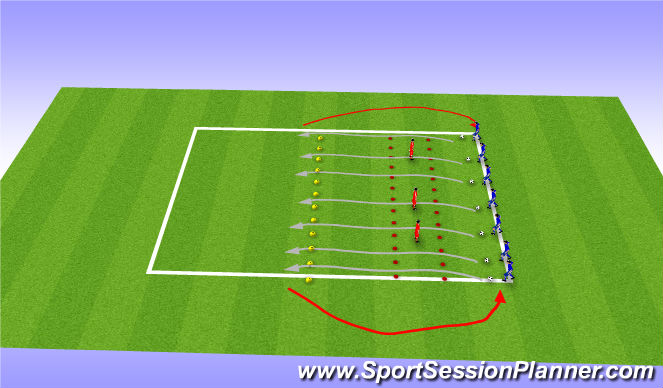 Football/Soccer Session Plan Drill (Colour): Technical Skill