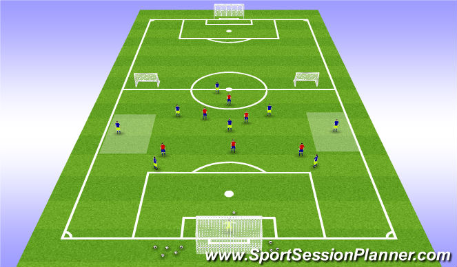 Football/Soccer Session Plan Drill (Colour): Playing Out V 3