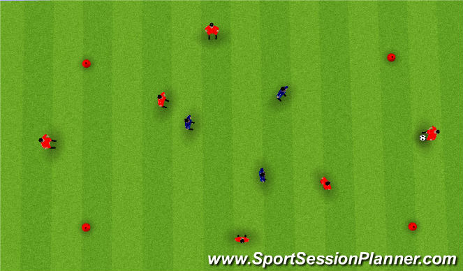 Football/Soccer Session Plan Drill (Colour): 5vs2 Or 6Vs3