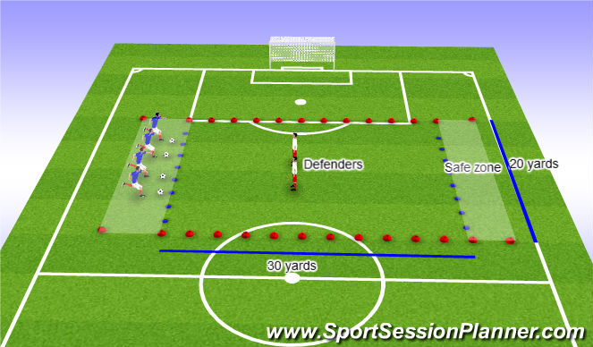 Football/Soccer Session Plan Drill (Colour): The Broxi Bear