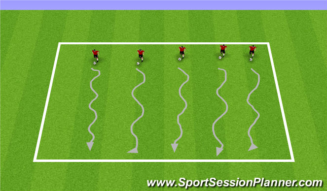 Football/Soccer Session Plan Drill (Colour): Fall ODP