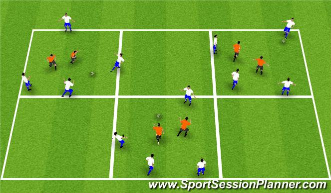 Football/Soccer Session Plan Drill (Colour): Reitabolti: