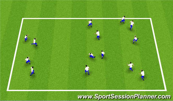 Football/Soccer Session Plan Drill (Colour): Leikur: