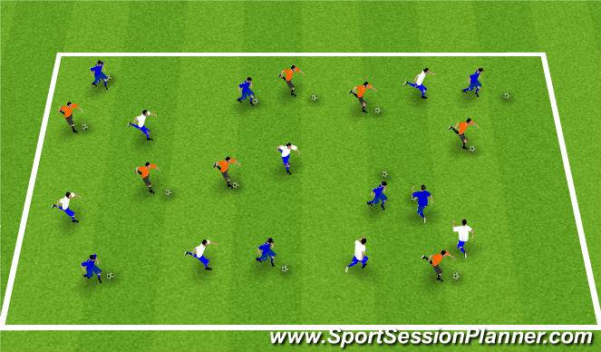 Football/Soccer Session Plan Drill (Colour): Almennar upphitunaræfingar: