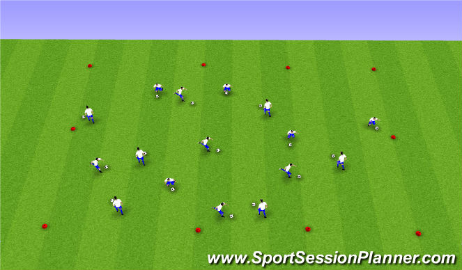 Football/Soccer Session Plan Drill (Colour): Boltatækni: