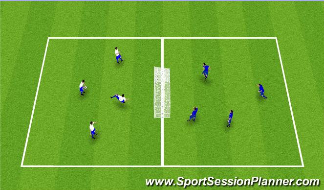 Football/Soccer Session Plan Drill (Colour): Skallatennis: