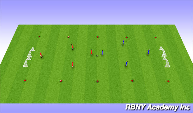 Football/Soccer Session Plan Drill (Colour): Shooting Main Activity