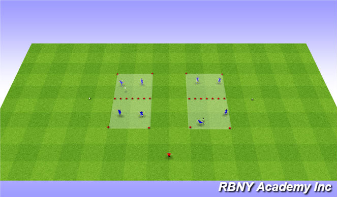 Football/Soccer Session Plan Drill (Colour): Soccer Tennis - on arrival
