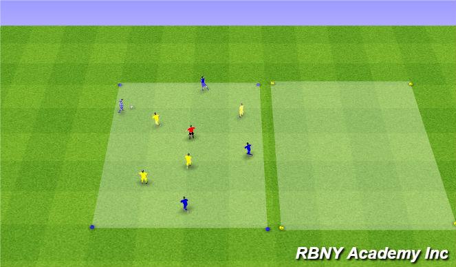 Football/Soccer Session Plan Drill (Colour): Main - 4v4+1