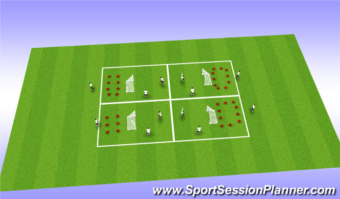 Football/Soccer Session Plan Drill (Colour): Heading 2