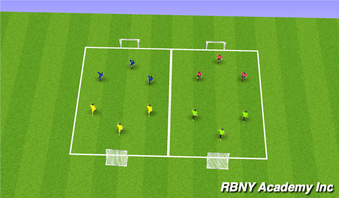 Football/Soccer Session Plan Drill (Colour): Mini Tournament