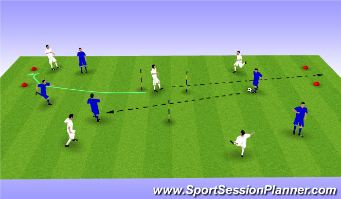 Football/Soccer Session Plan Drill (Colour): Triangle Game.