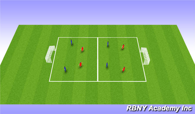 Football/Soccer Session Plan Drill (Colour): CONDITIONED GAME (20 mins)