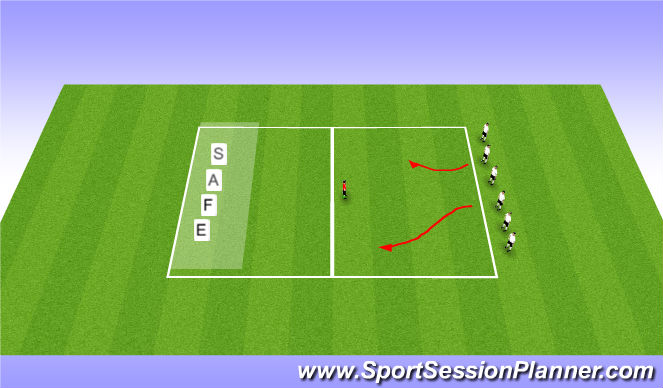 Football/Soccer Session Plan Drill (Colour): Warm Up: Bulldog