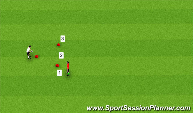 Football/Soccer Session Plan Drill (Colour): Ball Mastery with Triangle