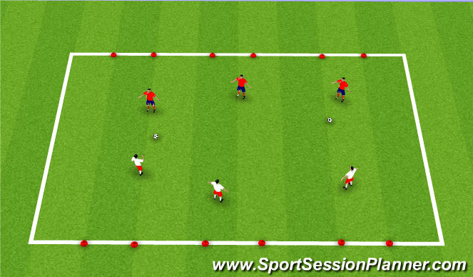 Football/Soccer Session Plan Drill (Colour): Conditioned Defending Game
