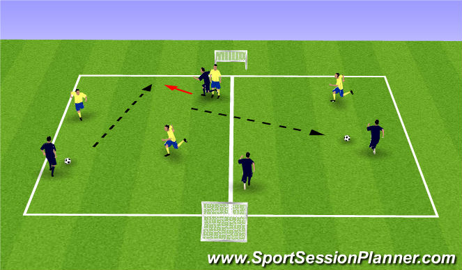 Football/Soccer Session Plan Drill (Colour): Play1