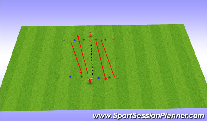Football/Soccer Session Plan Drill (Colour): Warming-up Passing Moves (1)