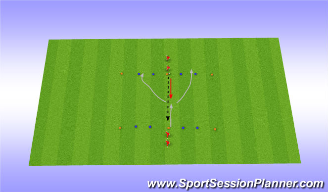 Football/Soccer Session Plan Drill (Colour): Warming-up Passing Moves (2)