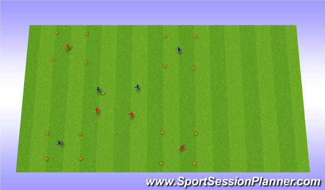 Football/Soccer Session Plan Drill (Colour): Positiongame - open up