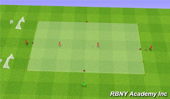 Football/Soccer Session Plan Drill (Colour): Main - 1v1s