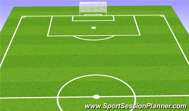 Football/Soccer Session Plan Drill (Colour): 6v6 + 2 + Gk