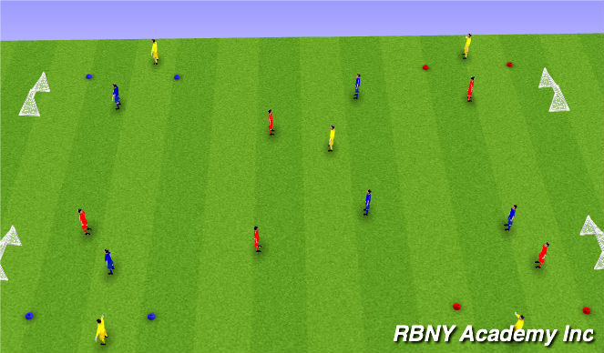 Football/Soccer Session Plan Drill (Colour): Turning Main Activity