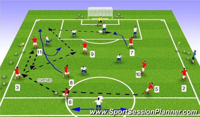 Football/Soccer Session Plan Drill (Colour): POP 10 v 8