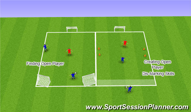 Football/Soccer Session Plan Drill (Colour): Introducing The Concept