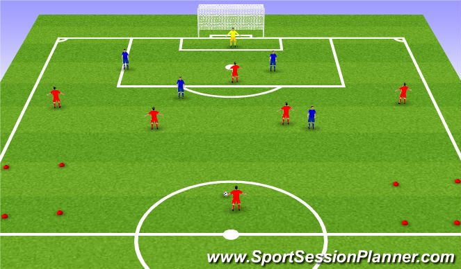 Football/Soccer Session Plan Drill (Colour): SSG2