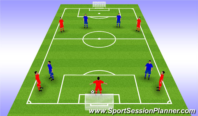 Football/Soccer Session Plan Drill (Colour): Animation 2
