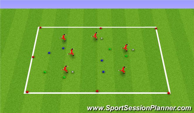 Football/Soccer Session Plan Drill (Colour): pass through gates