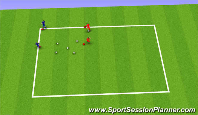 Football/Soccer Session Plan Drill (Colour): bowling game