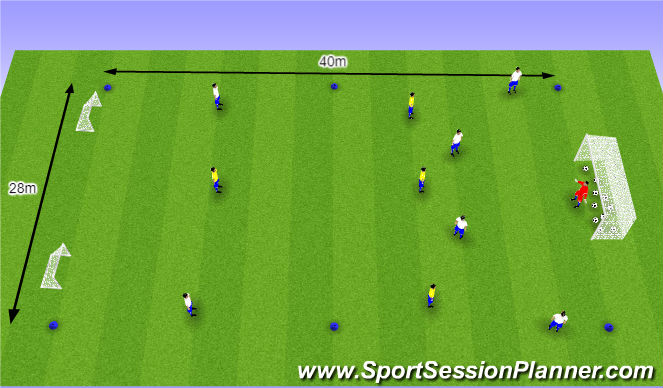 Football/Soccer Session Plan Drill (Colour): O11 / O12 - W37 (1) - Opbouwen