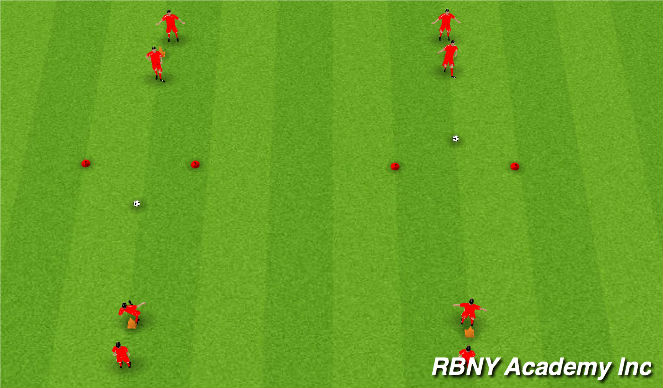 Football/Soccer Session Plan Drill (Colour): Pass and Follow Warmup