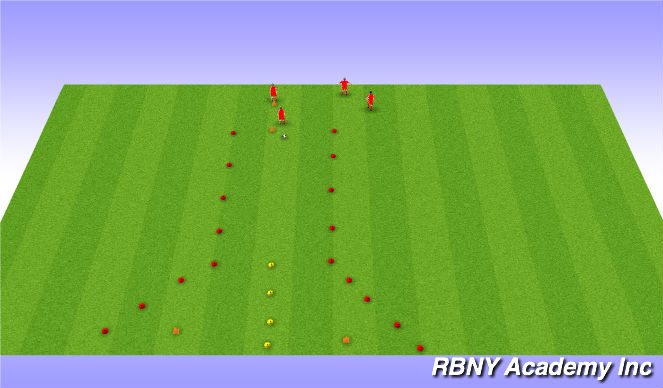 Football/Soccer Session Plan Drill (Colour): Chase Down Game