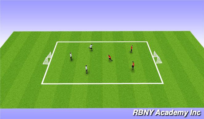 Football/Soccer Session Plan Drill (Colour): European Handball