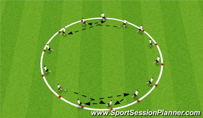 Football/Soccer Session Plan Drill (Colour): Warm Up #1