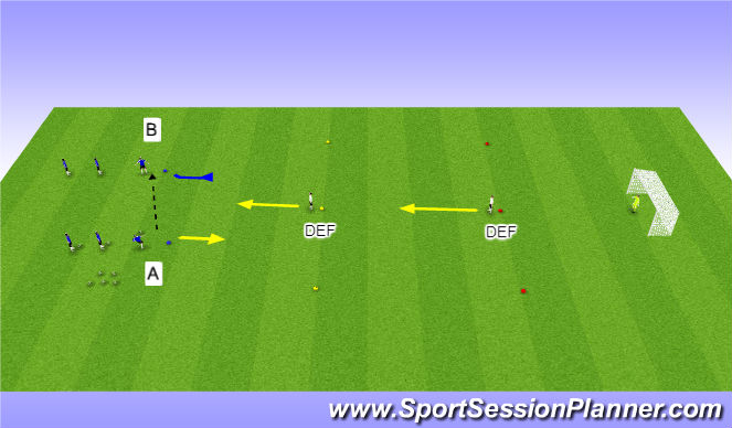 Football/Soccer Session Plan Drill (Colour): Jail Game