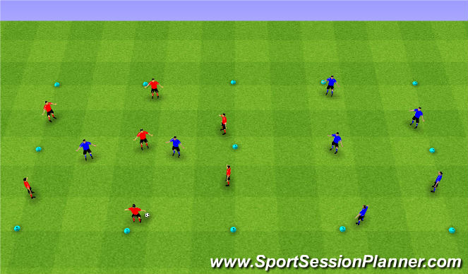 Football/Soccer Session Plan Drill (Colour): Possession: Mi Casa Su Casa