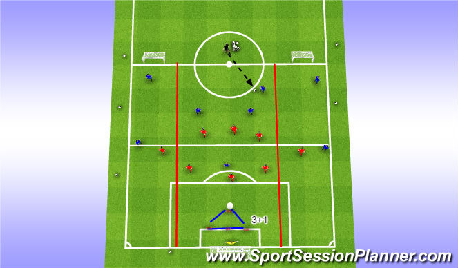 Football/Soccer Session Plan Drill (Colour): PoP