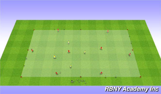 Football/Soccer Session Plan Drill (Colour): Main Activity - Liverpool Rondo