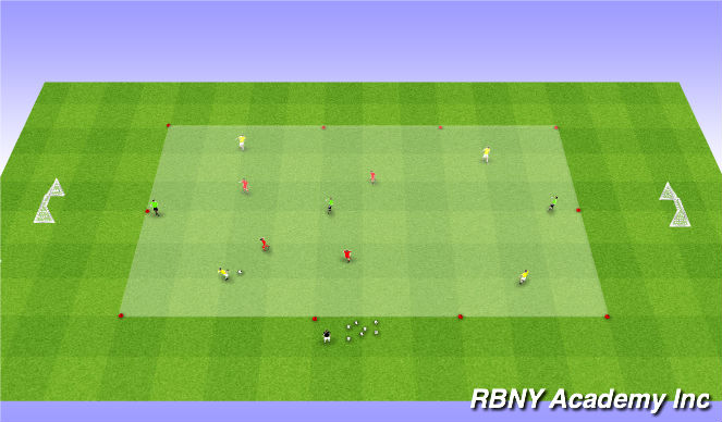 Football/Soccer Session Plan Drill (Colour): Conditioned Game - 4v4+3