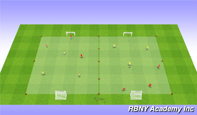 Football/Soccer Session Plan Drill (Colour): Intro - Small Sided Games