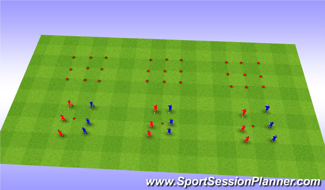 Football/Soccer Session Plan Drill (Colour): Fun Warmup / Agility